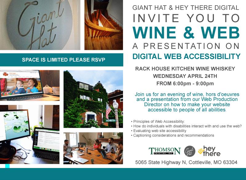 Image of Wine and Web Event Invitation